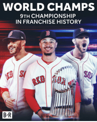 The Red Sox win the World Series!: WORLD CHAMPS  9TH CHAMPIONSHIP  IN FRANCHISE HISTORY  S0  B-R The Red Sox win the World Series!
