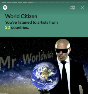Universal Intro Time: World Citizen  You've listened to artists from  20 countries.  Mr. Worldwi  de By Paula K- Universal Intro Time