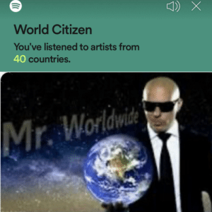 Mr worldwide: the musical: World Citizen  You've listened to artists from  40 countries.  Worldwide  Mr. Mr worldwide: the musical