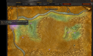 Playing a private server of TBC (TheBurningCrusade) World Of Warcraft and came across this. top 10 anime crossovers: World Map  Zone Map  Continent  Zone  Eastern Kingdoms  Zoom Out  QuestHelper  Never Show  Duskwood  Right Click On Map To Zoom Out  The Hushed Bank  ELWYNN FOREST  Wait for Borophyll to turn in Deliveries to Sven.  Talk to Sven Yorgen.  Estimated travel time:  0:09  DARSHIRE  attat Playing a private server of TBC (TheBurningCrusade) World Of Warcraft and came across this. top 10 anime crossovers