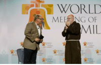 "I heard Pastor Rick Warren speak last year with Cardinal Sean O'Malley, and to 15,000+ Catholics at the World Meeting of Families in Philadelphia, where he said the following:   ""In today's society, materialism is idolized, immorality is glamorized, truth is minimized, sin is normalized, divorce is rationalized, and abortion is legalized. In TV and movies, crime is legitimized, drug use is minimized, comedy is vulgarized, and sex is trivialized. In movies, the Bible is fictionalized, churches are satirized, God is marginalized, and Christians are demonized. The elderly are dehumanized, the sick are euthanized, the poor are victimized, the mentally ill are ostracized, immigrants are stigmatized, and children are tranquilized. In families around the world, our manners are uncivilized, speech is vulgarized, faith is secularized, and everything is commercialized. Unfortunately, Christians are often disorganized and demoralized, their faith compartmentalized, and their witness compromised. Thus, our worship must be revitalized; our differences minimized; our members mobilized, the lost evangelized; and our families re-energized. Amen"": WORLD  MER NG OF  MIL  WORLD  FAMJULS  EAMUL  E WORLD I heard Pastor Rick Warren speak last year with Cardinal Sean O'Malley, and to 15,000+ Catholics at the World Meeting of Families in Philadelphia, where he said the following:   ""In today's society, materialism is idolized, immorality is glamorized, truth is minimized, sin is normalized, divorce is rationalized, and abortion is legalized. In TV and movies, crime is legitimized, drug use is minimized, comedy is vulgarized, and sex is trivialized. In movies, the Bible is fictionalized, churches are satirized, God is marginalized, and Christians are demonized. The elderly are dehumanized, the sick are euthanized, the poor are victimized, the mentally ill are ostracized, immigrants are stigmatized, and children are tranquilized. In families around the world, our manners are uncivilized, speech is vulgarized, faith is secularized, and everything is commercialized. Unfortunately, Christians are often disorganized and demoralized, their faith compartmentalized, and their witness compromised. Thus, our worship must be revitalized; our differences minimized; our members mobilized, the lost evangelized; and our families re-energized. Amen"""
