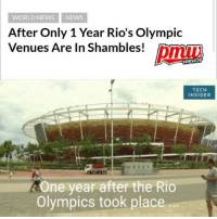 rio brazil After Olympics 🤔🙁 - full video at pmwhiphop.com link in bio: WORLD NEWS NEWs  After Only 1 Year Rio's Olympic  Venues Are In Shambles!  HIPHOP  TECH  INSIDER  One year after the Rio  Olympics took place rio brazil After Olympics 🤔🙁 - full video at pmwhiphop.com link in bio