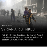 """A raid initiated by Syrian President Bashar al-Assad has led to an estimated 200 deaths in three days, killing children, women, and rescue workers. In addition to the fatalities, over 12 hospitals and clinics have been struck by bombs, leaving limited space for medical recuperation for the hundreds of people injured in the attacks. This recent raid marks one of the deadliest episodes in Syria's seven-year war, followed by Assad's recapturing of the city of Aleppo in 2013, which left 14,000 people dead. ___ Rebel forces have fought against Assad and his allies (including Russia and Iran) since 2011. The recent acts of violence leave the rebel armies extremely vulnerable, as the government has closed access to aid provided by the United Nations (including medicinal supplies and food). As a response, UNICEF, the children's division of the U.N., released a completely blank page. The organization later explained, """"We no longer have the words to describe children's suffering and our outrage."""" ___ Photo: Abdulmonam Eassa 
