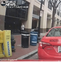 Abc, Life, and Memes: WORLD  ONEWS  abc  WITH  TONIGHT DAVIDMUIR  news  bnet  WONDER  Ephrem Engdashet A taxi driver's dashcam captured the moment a sedan jumped the curb earlier this week and crashed to a halt on a Washington, D.C., sidewalk, pinning a pedestrian before several good Samaritans rushed to lift the vehicle from the victim; remarkably, only four people suffered injuries and they were all non-life threatening in what authorities say was an accident.