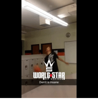 Memes, Wshh, and Star: WORLD STAR  HIP HOP.COM  Derril is insane But why tho.. 🏀😳 WSHH (via @t.rohrer)