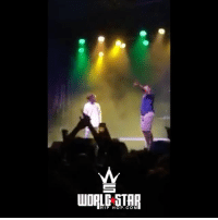 Memes, Wshh, and Star: WORLD STAR  HIP HOP.COM Guy jumps on stage at a YoungThug concert and he lets him stay for the next song 🎶👏 WSHH (via @esmurff)