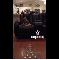 Memes, 🤖, and Jackson: WORLD STAR This two year old has become a trick shot star 👏😃👶 WSHH @worldstar (via @Korbin_Jackson)