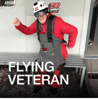 Birthday, Memes, and Daredevil: WORLD  VELOCITY  TP  FLYING  VETERAN This is how daredevil Bob celebrated his 90th birthday 🎉 🎈 zipwire zipline worldsfastest ageisbutanumber birthday adventure icanfly outdoors bbcnews instagood @bbcnews