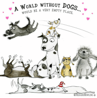 """Dogs, Memes, and Chinese: WoRLD WITHouT DOGs  E A VERY EMPTY PLACE.  CREDAND HOWLING Happy National Dog Day!    (August 26th is National Dog Day in the U.S.  It was started to to save and celebrate dogs!  It is also """"Year of the Dog"""" in the Chinese Zodiac!  Go DOGS!)"""