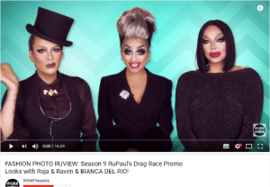 trixyadcre: kadabro:   why do they collectively look like the babadook? like, raja got the hat, bianca got the face and raven got the hair omg   BYE : WORLD  WONDER  )  0:0011629  FASHION PHOTO RUVIEW: Season 9 RuPaul's Drag Race Promo  Looks with Raja & Raven & BIANCA DEL RIO!  WOWPresents  W RLD trixyadcre: kadabro:   why do they collectively look like the babadook? like, raja got the hat, bianca got the face and raven got the hair omg   BYE