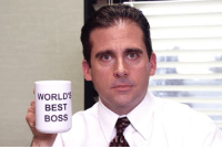 Happy Birthday Michael Scott! Can we give him 54 nicest Office quotes ASAP as possible?: WORLD'S  BEST  BOSS Happy Birthday Michael Scott! Can we give him 54 nicest Office quotes ASAP as possible?
