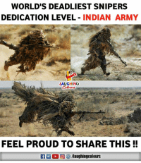 #IndianArmy 🇮🇳️: WORLD'S DEADLIEST SNIPERS  DEDICATION LEVEL INDIAN ARMY  LAUGHING  FEEL PROUD TO SHARE THIS! #IndianArmy 🇮🇳️