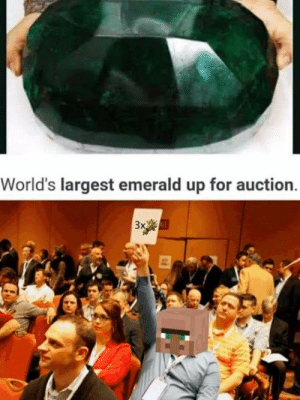 auction: World's largest emerald up for auction  3x