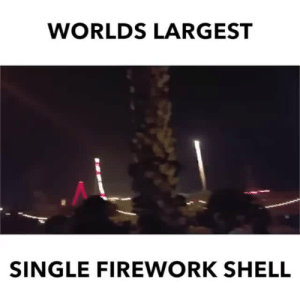 "Fucking, Guacamole, and Jesus: WORLDS LARGEST  SINGLE FIREWORK SHELL pizzaotter:  anomalousdata:  floorwildcat: Holy guacamole and cheddy cheese! ""I mean, that's not really that impres–JESUS FUCKING CHRIST.""   JESUS FUCK"