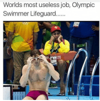 Easiest job out there 😂: Worlds most useless job, Olympic  Swimmer Lifeguard  TE Easiest job out there 😂