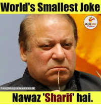 Jokes, World, and Indianpeoplefacebook: World's Smallest Joke  laughing colours, com  Nawaz Sharif hai Smallest joke..