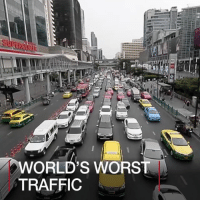 1 MAR: Most people complain about rush hour traffic, but drivers in Bangkok have more to gripe about than others. It was ranked top among the world's worst cities for traffic jams. Find out more: bbc.in-bangkoktraffic BangkokTraffic thailand WorldsWorstTraffic trafficjam WorldsWorstTrafficJam BBCShorts BBCNews @BBCNews: WORLD'S WORST  TRAFFIC 1 MAR: Most people complain about rush hour traffic, but drivers in Bangkok have more to gripe about than others. It was ranked top among the world's worst cities for traffic jams. Find out more: bbc.in-bangkoktraffic BangkokTraffic thailand WorldsWorstTraffic trafficjam WorldsWorstTrafficJam BBCShorts BBCNews @BBCNews
