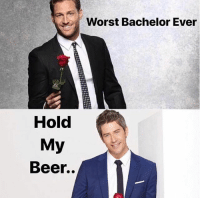 Beer, Bachelor, and Link: Worst Bachelor Ever  Hold  My  Beer.. Is Arie for real? Our Bachelor finale recap is up, link in bio or betches.co-bachfinale @pretendblonde bachelor