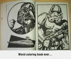 lolzandtrollz:  Try To Add Color To That: Worst coloring book ever....  rrrr lolzandtrollz:  Try To Add Color To That