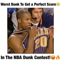 Dunk, Memes, and 🤖: Worst Dunk To Get a Perfect Score  In The NBA Dunk Contest! Yea...What do y'all think?!🤐 Follow me (@DunkFilmz) for More!