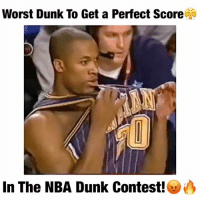 Crazy, Cute, and Dunk: Worst Dunk To Get a Perfect Score  In The NBA Dunk Contest! Yea...What do y'all think?!🤐 Who is better Curry or MJ? 🤔 Comment below! 👇 - Follow @Sportzmixes For More! 🏀 - @dunkfilmz love dubai lol funny doubletap cute crazy cool food sad fashion