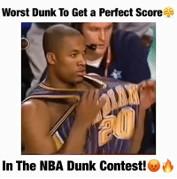 Dunk, Fail, and Funny: Worst Dunk To Get a Perfect Score  In The NBA Dunk Contest!es Yea...What do y'all think?!🤐 lol funny fail (@dunkfilmz) . Follow me @Sportzmixes For More💯