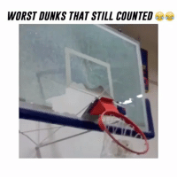 "Dunk, Memes, and 🤖: WORST DUNKS THAT STILL COUNTED Worst Dunks That Still Counted 😨 Will you be able to dunk when you are older? 🤔 Comment below! 👇 - Comment ""Dunk"" Letter by Letter 🏀 - Follow @Sportzmixes For More‼️"