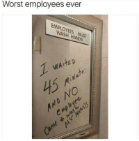 😂 clean cleanfunny cleanhilarious cleanposts cleanpictures cleanaccount funny funnyaccount funnypictures funnyposts funnyclean funnyhilarious: Worst employees ever  EMPLOYEES  EMPLOYEES MUST  WASH HANDS  S MUST  WAIHED  NO 😂 clean cleanfunny cleanhilarious cleanposts cleanpictures cleanaccount funny funnyaccount funnypictures funnyposts funnyclean funnyhilarious