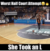 "This is the Worst half court shot attempt i've ever seen...😂😭 Comment ""L"" as many times as you can letter by letter below without being interrupted for a follow! (103% actually can't do it!) 😳 - Follow @Sportzmixes For More! 🤘🏽 - Via: @slams love doubletap london savage stephencurry nba basketball kobe hardwork likeforlike love ny dubai lakers espn kyrieirving lebronjames lebron cavs Kd fail lol ncaa kobe savage worldstar: Worst Half Court Attempt  COUniversity  TOTAL RECORDS MANAGEMENT TOTAL  TOTAL RECORDS MASAGEMNT TOTAL RECORDS  She Took an L This is the Worst half court shot attempt i've ever seen...😂😭 Comment ""L"" as many times as you can letter by letter below without being interrupted for a follow! (103% actually can't do it!) 😳 - Follow @Sportzmixes For More! 🤘🏽 - Via: @slams love doubletap london savage stephencurry nba basketball kobe hardwork likeforlike love ny dubai lakers espn kyrieirving lebronjames lebron cavs Kd fail lol ncaa kobe savage worldstar"