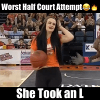 Tag someone who had shoot like this girl! 🏀🏀🏀 Follow: @realcrosses ballislife basketballislife basketballneverstops basketballmotivationtv nba fiba basketball: Worst Half Court Attempt  Serious  Accounta  She Took an L Tag someone who had shoot like this girl! 🏀🏀🏀 Follow: @realcrosses ballislife basketballislife basketballneverstops basketballmotivationtv nba fiba basketball