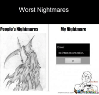 Now THAT is scary!: Worst Nightmares  People's Nightmares  My Nightmare  Error  No internet connection.  OK  memecenter com  MameCenuera Now THAT is scary!
