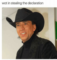 : wot in stealing the declaration