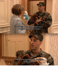 ArrestedDevelopment Funny Sitcom TVQuotes: Would a coward have this?  What the  hell is that?  These are my awards. Mothe  from army ArrestedDevelopment Funny Sitcom TVQuotes