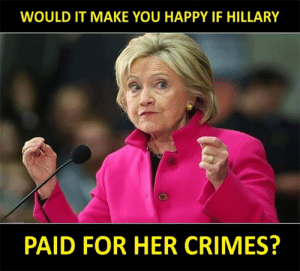 Click, Memes, and Diabetes: WOULD IT MAKE YOU HAPPY IF HILLARY  PAID FOR HER CRIMES? This would make a lot of people happy...  There Is PANIC In The Diabetes Industry! Big Pharma executives can't believe their eyes. SEE WHY CLICK HERE ►► http://u-read.org/no-diabetes