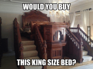 King, You, and King Size Bed: WOULD YOU BUY  THIS KING SIZE BED? King size me..