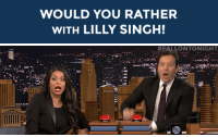 """<h2><b>Wanna play """"WOULD YOU RATHER"""" with Lilly Singh?</b></h2><p>Lilly Singh is ready to answer your best """"Would You Rather?"""" scenarios!</p><p>Send us your best/funniest/weirdest questions by replying below or by submitting to our <b><a href=""""http://fallontonight.tumblr.com/ask"""" target=""""_blank"""">Tumblr Ask Box!</a></b></p><h2><b>What's your best 'Would You Rather' question?</b></h2>: WOULD YOU RATHER  WITH LILLY SINGH!   #FALLONTO NIGHT  r. <h2><b>Wanna play """"WOULD YOU RATHER"""" with Lilly Singh?</b></h2><p>Lilly Singh is ready to answer your best """"Would You Rather?"""" scenarios!</p><p>Send us your best/funniest/weirdest questions by replying below or by submitting to our <b><a href=""""http://fallontonight.tumblr.com/ask"""" target=""""_blank"""">Tumblr Ask Box!</a></b></p><h2><b>What's your best 'Would You Rather' question?</b></h2>"""