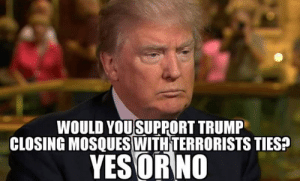 Click, Memes, and Diabetes: WOULD YOUSUPPORT TRUMP  CLOSING MOSQUES WITHTERRORISTS TIES?  YES ORNO I would ABSOLUTELY support him!  There Is PANIC In The Diabetes Industry! Big Pharma executives can't believe their eyes. SEE WHY CLICK HERE ►► http://u-read.org/no-diabetes
