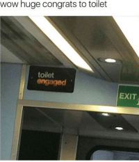 Wow, Humans of Tumblr, and Huge: wow huge congrats to toilet  , toilet  engaged  EXIT