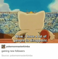 meowth: Wow, I have a lot of  people to disappoint  pokemonmasterkimba  gaining new followers  Source: pokemonmasterkimba meowth