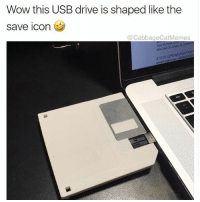 Wow, Gps, and Drive: Wow this USB drive is shaped like the  save icon  @CabbageCatMemes  15  2.10 N GPS NAVIGATION What will they think of next
