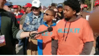 Memes, Wow, and Black: WOW, Young Black kid in Georgia RED Pills reporter, on why he's voting Republican and why he supports President Trump! This is the greatest video that I've ever seen!