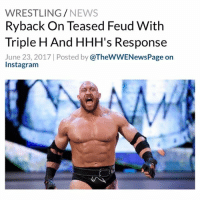 "Source: Conversation With The Big Guy - Ryback recalled that there was a point that WWE teased a feud between 'The Human Wrecking Ball' and Triple H. Ryback said that 'The Game' later told him the plan was never for them to work together though - ""I had a weird deal with Hunter. Did I ever tell [podcast co-host Pat Buck]? Do you remember that, where they had a thing where it looked like they were teasing a program with me and Hunter? They had us face off in England after I wrestled Kane. I think I broke my finger wrestling Kane one night. We were doing something and our hands hit and my finger went sideways."" - Ryback continued, ""so I get through this match with Kane. I think it was the main event on SmackDown. Then, they have this big stare [down] with me and Hunter and they teased it for a couple of weeks with different things and then it just went away. It was nothing. And even he came up, 'the plan was never for us to work, just so you know.' And I go, 'oh, okay. I don't know.' I'm not in the creative meetings. I don't know why. I just do what I'm told. He would always explain things weirdly, but, yeah, that never happened. It would've been nice, so he could fucking know that I could wrestle."" - WWE TripleH Ryback WWENews WrestlingNews: WRESTLING/NEWS  Ryback On Teased Feud With  Triple H And HHH's Response  June 23, 2017 