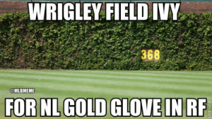 New York Mets Memes: WRIGLEY FIELD IVY  368  @MLBMEME  FOR NL GOLD GLOVE IN RF