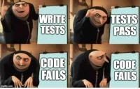 How, Com, and Code: WRITE  TESTS  TESTS  PASS  COp  FAILS  CODE  FAILS  imgflip.com But how?