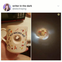 Why is this the best thing ever 🥗❤️: writer in the dark  @electrapng  WATCHER  NATCHER Why is this the best thing ever 🥗❤️