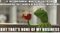 Business, Imgur, and Mods: WRONGDOING THEY SHOULD'VE  HIRED THE IMGUR MODS  BUT THAT'S NONE OF MY BUSINESS  made on imgur Bunch of Federal amateurs, I tells ya.