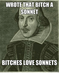 Bitch, Love, and Bitches Love: WROTE THAT BITCH A  SONNET  BITCHES LOVE SONNETS