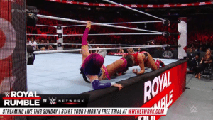 You CAN see some classic Royal Rumble Matches right about now...: WROYAL  RUMBLE O WNETWO RK  STREAMING LIVE THIS SUNDAY START YOUR 1-MONTH FREE TRIAL AT WWENETWORK.COM You CAN see some classic Royal Rumble Matches right about now...