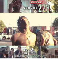 "Memes, Worldstarhiphop, and Wshh: WSHH PREMIERE  FAMOUS DEX  WATCH NOW ON WORLDSTARHIPHOP.COM WSHH Premiere @FamousDex ""223"" LiveNow FamousDex Dexter 223 dir- @louieknows"