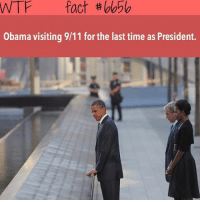 9/11, Memes, and Wtf: WTF fact  Obama visiting 9/11 for the last time as President. Double tap 😪